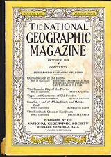 National Geographic October 1928 Sweden Kizilbash Kurdistan Clans  FREE US S/H
