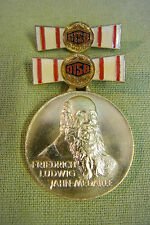 DDR Medaille - DTSB - Friedrich Ludwig Jahn Medaille - goldfarben - Etui
