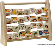 Voila Toy wooden toy ABACUS SPINNING ALPHABET LETTERS educational learning *NEW