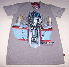 Transformers Optimus Prime Mens Grey Printed T Shirt Size XS New