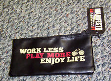 "#CSPEC UK WILD & WOLF MANIFESTO PENCIL CASE BAG ""WORK LESS PLAY MORE ENJOY LIFE"""
