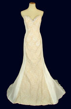 New Jovani 4653 Genuine Ivory Strapless Beaded Bridal Pageant Wedding Gown 8