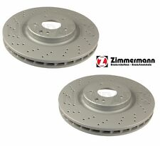 Mercedes W129 SL500 SL600 Pair Set of 2 Front Drilled Brake Rotors Zimmermann