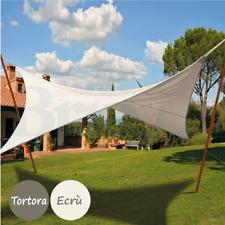 Tenda a Vela Parasole Rettangolare Telo da Sole in HDPE Protezione Anti UV 2*3M