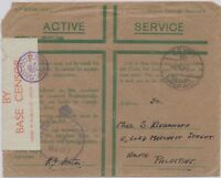"GB BRITISH MILITARY MAIL IN EGYPT 1942, ""EGYPT / 80 / POSTAGE / PREPAID"" CDS cvr"