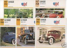 FICHES AUTOMOBILE USA CAR LASALLE 303 PHAETON V8 345 A SEDAN SERIE 35-50 SERIE50