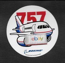 BOEING AIRCRAFT B757-200 BAGGAGE LABEL/FLIGHT BAG 2003