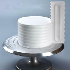 Cake Decorating Comb Icing Smoother Cake Scraper Pastry 4 Baking Tools- F2G0