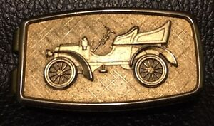 Vintage Anson Silver Plated Brass Money Clip Antique Car Buggy Model T