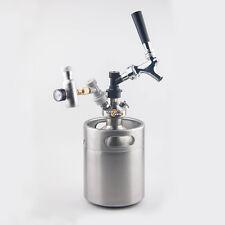 2L 64oz Stainless Steel Mini Keg  Growler Spear Beer Making Ball Lock Disconnect