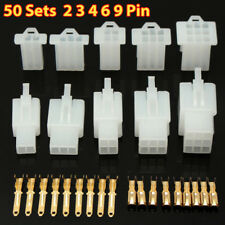 50Sets Car Moto Electrical 2.8mm 2 3 4 6 9 Pin Wire Cable Cnector Terminal Help