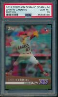 2019 Topps On Demand 3D #M-14 Griffin Canning Motion Insert PSA 10 Gem Mint /900