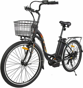 """ECOTRIC 26"""" 36V10Ah Electric Bicycle City Tire eBike e-Bike 7 speed Pedal Assist"""