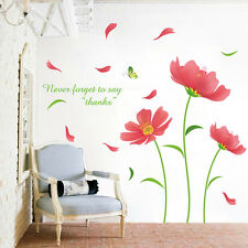 US STOCK DIY Flower Removable Art Quote Wall Sticker Decal Mural Home Decor