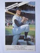 Mickey Mantle Restaurant and Sports Bar Special Offer Card 1991 Art Illustration