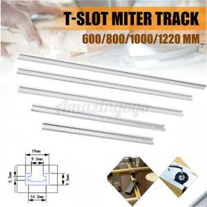 400-1220mm Aluminium T-Track T-Slot Miter Jig Tools Fixture Woodworker Router