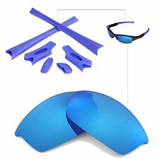 WL Polarized Ice Blue Replacement Lenses And Rubber Kit For Oakley Flak Jacket