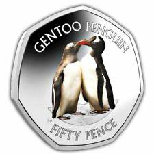 Gentoo Penguin 2019 50p Cupro Nickel Coloured Coin