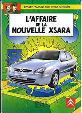 BLAKE & MORTIMER DÉPLIANT PUBLICITAIRE CITROËN L'AFFAIRE DE LA NOUVELLE XSARA