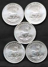 LOT of (5) *2018 ** South Africa ** 1 oz .999 fine silver ** Krugerrand ** BU **