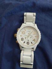 nixon 51-30 watch white/gold