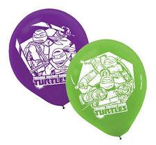 (6ct) Ninja Turtles Birthday Latex Balloons Party Supplies