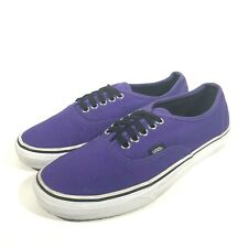 Vans Off the Wall Authentic Canvas Purple Skateboard Shoes Mens 7.5 Womens 9