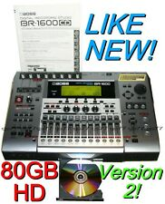 BOSS BR-1600CD Digital Recorder 80 GB w/ CDRW & DRUMS Version 2  MSRP $1795 SAVE