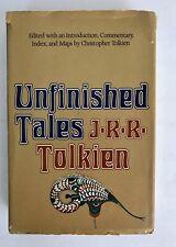 J.R.R. TOLKIEN'S UNFINISHED TALES (1980) FIRST US Edition HC W/ MAP & DJ