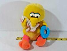 VINTAGE BABY CHIMING BIG BIRD PLUSH TEETHER/RATTLE DOLL Playskool ~ Ships FREE
