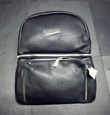 Vespa Rucksack schwarz Leder 606876M Primavera Tasche Backbag Original