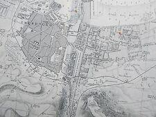 1858 FRANCE PORT DE CHERBOURG GENUINE VINTAGE ADMIRALTY CHART MAP