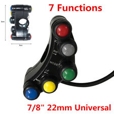 """7in1 Multifuction Motorcycle Motorbike 7/8"""" 22mm Handlebar Mount ON-OFF Switch"""