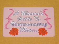 VINTAGE  NOVELTY GAG GIFT COOL STUFF A WOMAN'S GUIDE TO UNDERSTANDING MEN  CARD