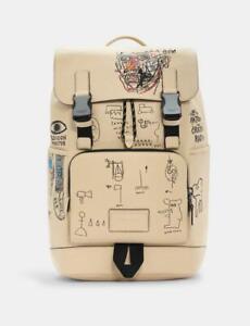 NWT Coach X Jean-Michel Basquiat MEN'S Track Backpack BEIGE