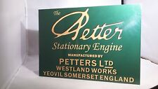 Vintage Petter A1 stationary engine display board. Rally sign.
