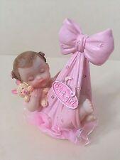 Baby Shower, Christening New Birth baby Girl in a sling cake topper