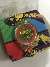 Swatch GE217 Charmingly Beautiful MANISH ARORA ART ARTIST SPECIAL Leather