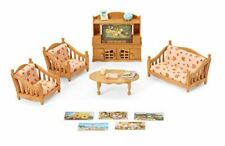 Calico Critters Dollhouse Comfy Living Room Play Set Kids Sofa Table TV Gift New
