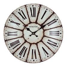 HOMETIME RETRO METAL DOMED SHAPED WALL CLOCK W7711