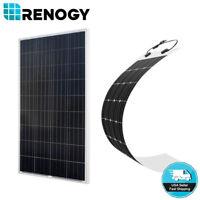 Renogy 160W 150W Solar Panel 12V Battery Charger Flexible Mono RV Motorhome Boat