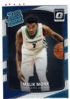 2017-18 Donruss Optic Malik Monk Rated Rookie Card RC #190 Charlotte Hornets -F