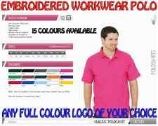 Workwear Uniform Polo Shirt. Heavyweight. FREE FULL COLOUR EMBROIDERED LOGO!