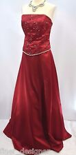 MARYS Modern Maids crystal Formal Long Dress BRIDESMAID Ball GOWN strapless 16