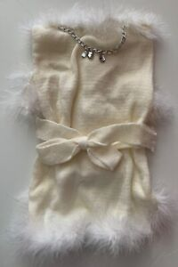 Puttin on the Glitz Dog Sweater Fur Trim Necklace Pink Black White Lots of Sizes