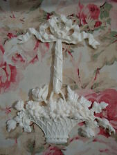 SHABBY & CHIC BASKET OF ROSES BOW RIBBON FURNITURE APPLIQUE ARCHITECTURAL Mount