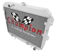"""2 Row 1"""" Queen Champion Radiator L6 Engine fits 1981 1982 1983 NISSAN 280ZX"""
