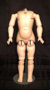 Wonderful Antique German Wood & Composition Doll Body Marked Heinrich Handwerck