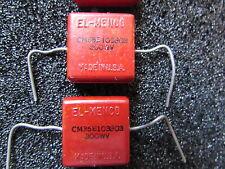 EL MENCO - CDE - SANGAMO 10000pF, 300V, 2% Mica Capacitors Qty: 2 Piece USA NOS