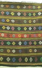 New listing *5' X 7' Antique Hand-Knotted Turkish Tribal Kilim Vintage Wool Vg-Dye Rug